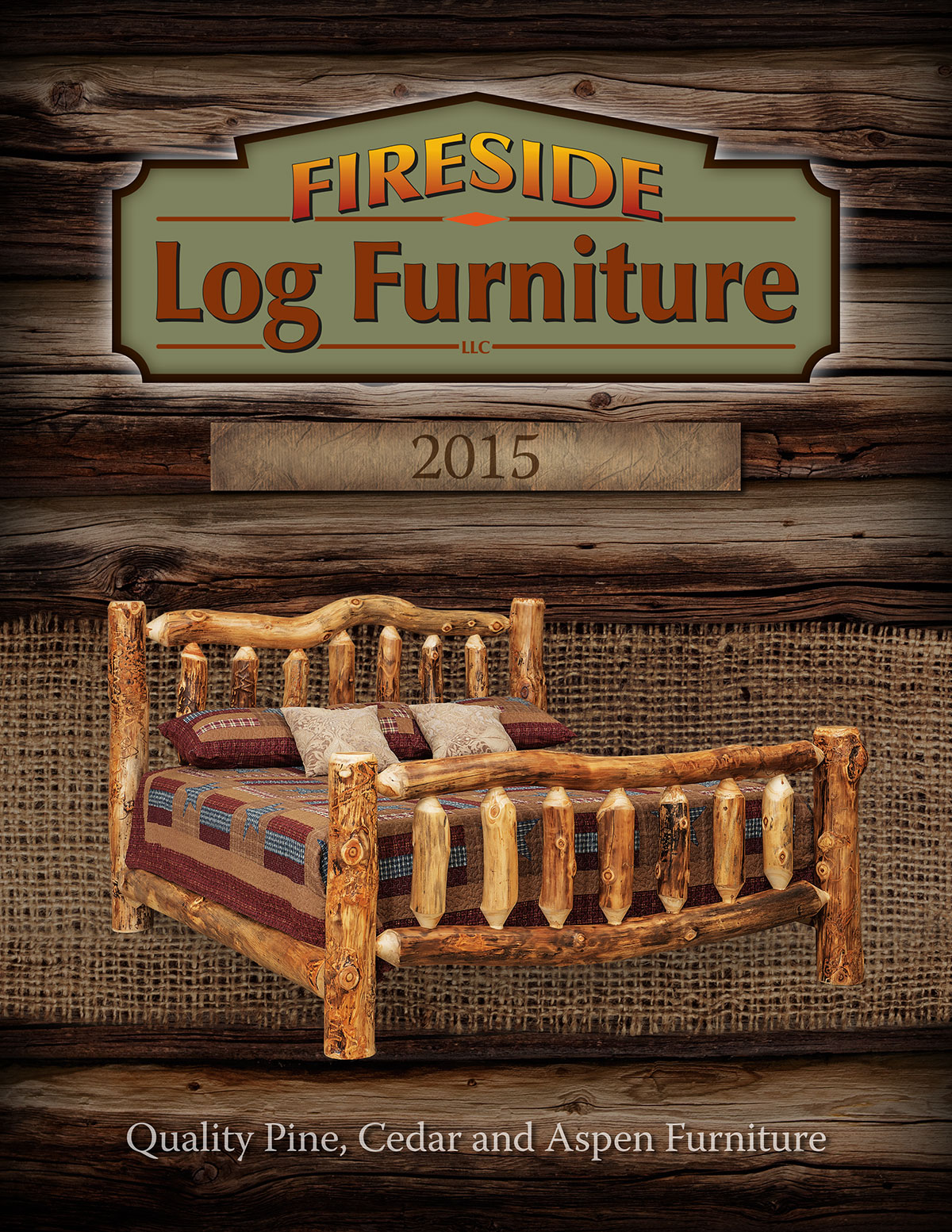 DGA Fireside Log Furniture Catalog Cover Design