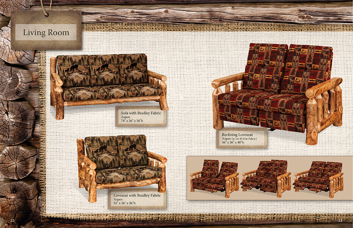 DGA Fireside Log Furniture Catalog Design Spread 22