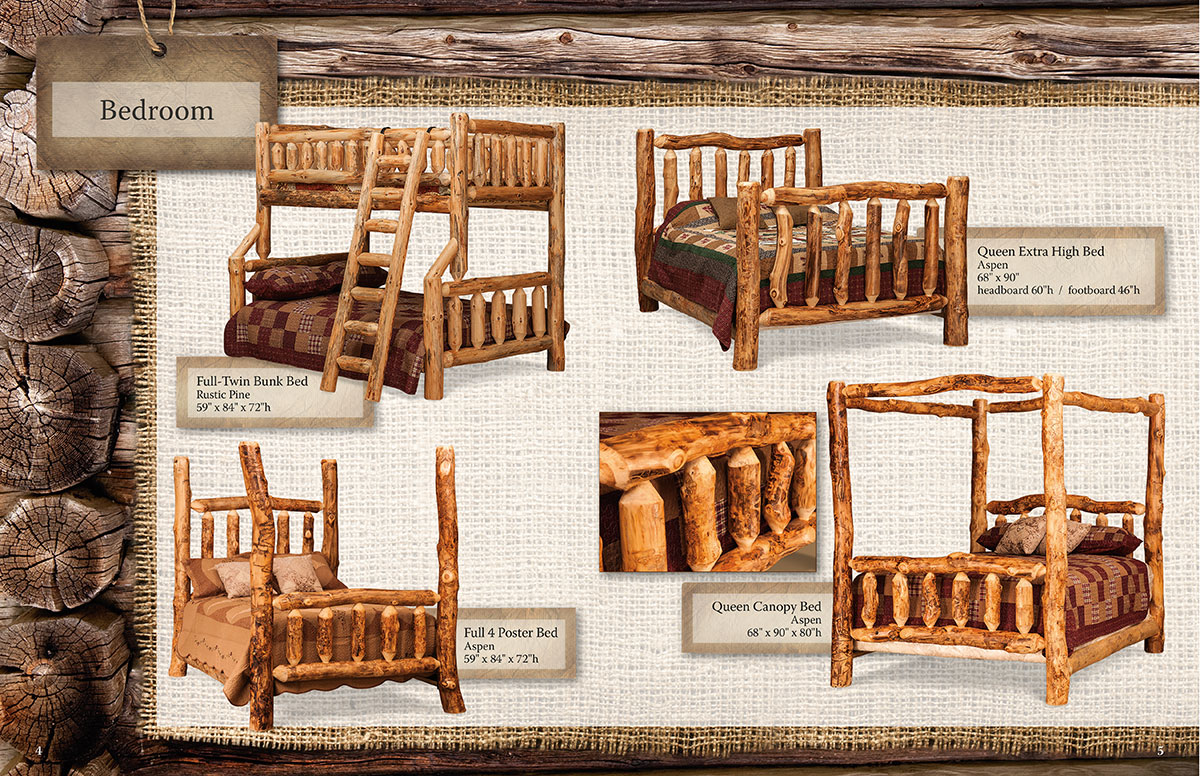 DGA Fireside Log Furniture Catalog Design Spread 4